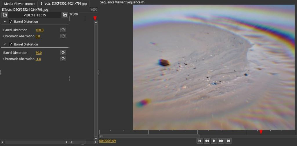 New effects for the Olive video editing application for Linux - Real